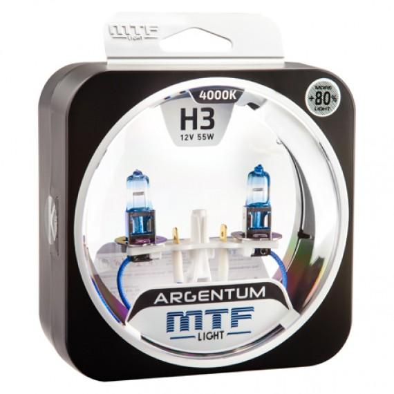 Лампы галогенные MTF-Light Argentum +80% H3 4000K HA5083