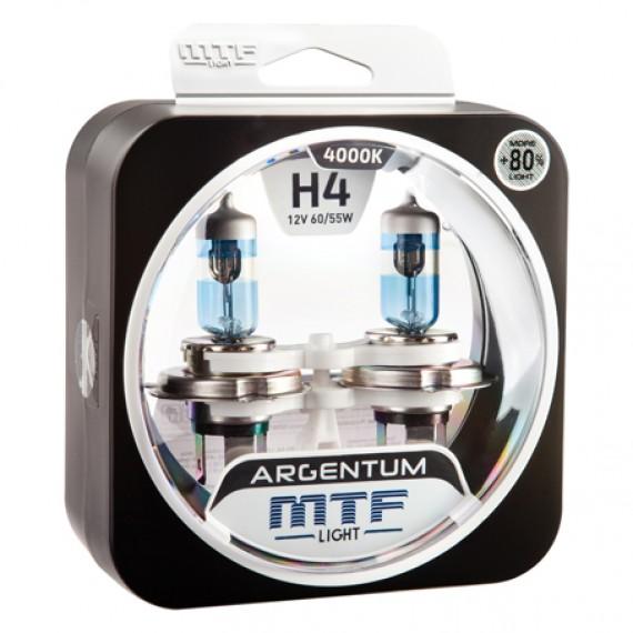 Лампы галогенные MTF-Light Argentum +80% H4 4000K HA5007