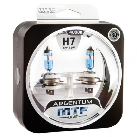 Лампы галогенные MTF-Light Argentum +80% H7 4000K HA5014