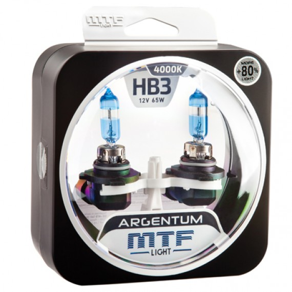 Лампы галогенные MTF-Light Argentum +80% HB3 4000K HA5052