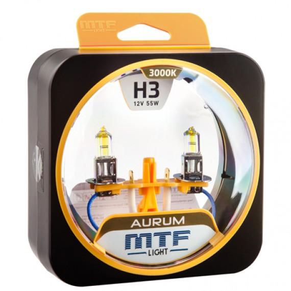 Лампы галогенные MTF-Light Aurum H3 3000K HA3980