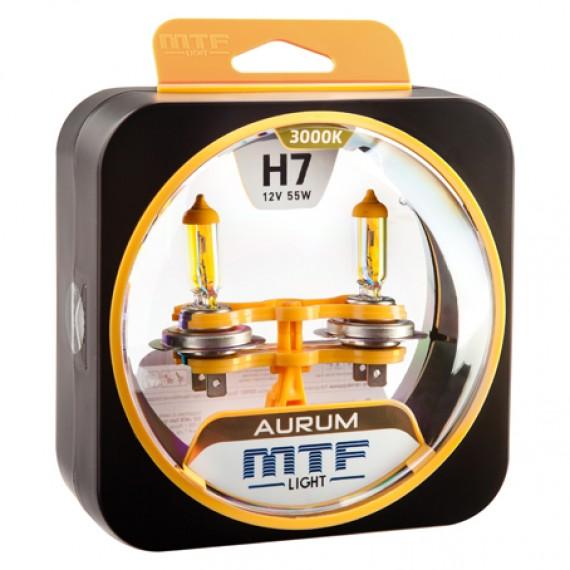 Лампы галогенные MTF-Light Aurum H7 3000K HA3621
