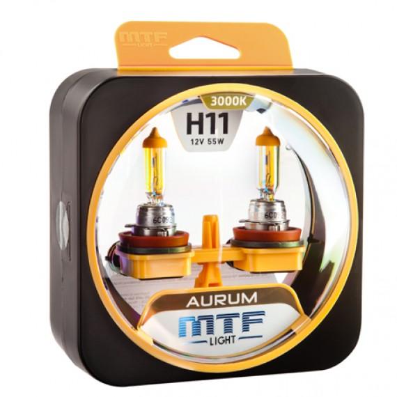 Лампы галогенные MTF-Light Aurum H11 3000K HA3645