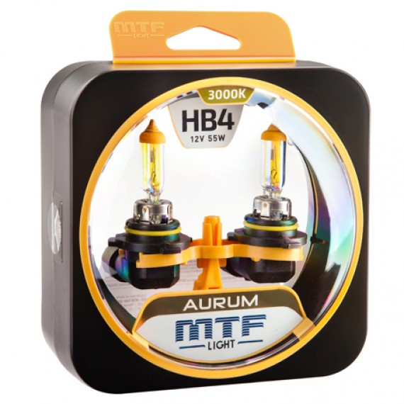 Лампы галогенные MTF-Light Aurum HB4 3000K HA3669