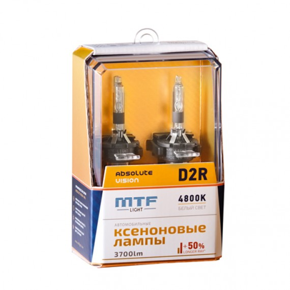 Ксеноновые лампы MTF-Light D2R Absolute Vision +50% 4800K AVBD2R