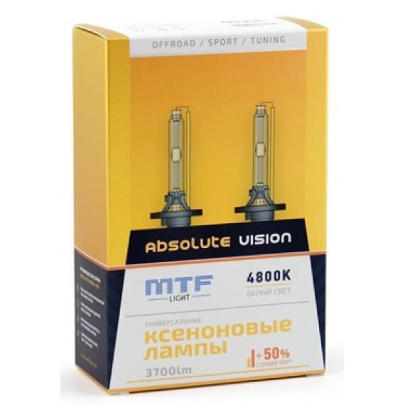 Ксеноновые лампы MTF-Light HB4 Absolute Vision +50% 4800K