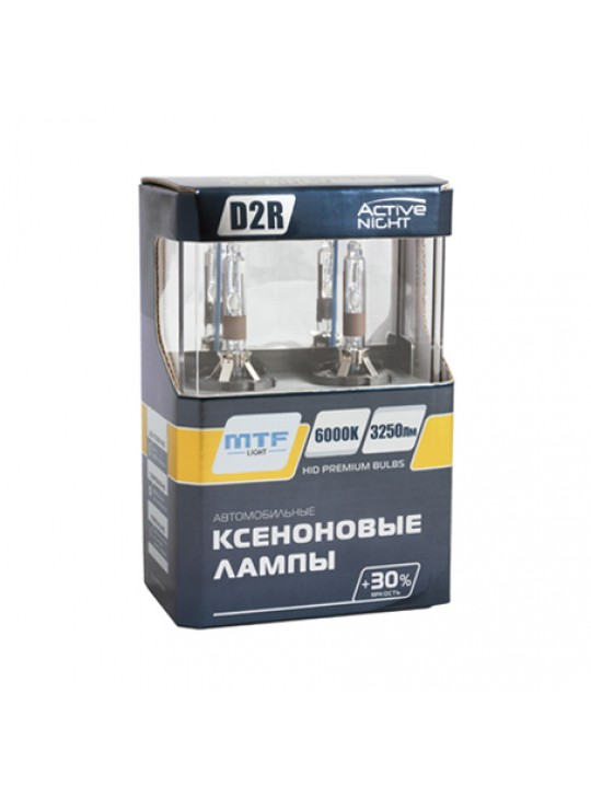 Ксеноновые лампы MTF-Light D2R ACTIVE NIGHT +30% 6000K AS6D2R