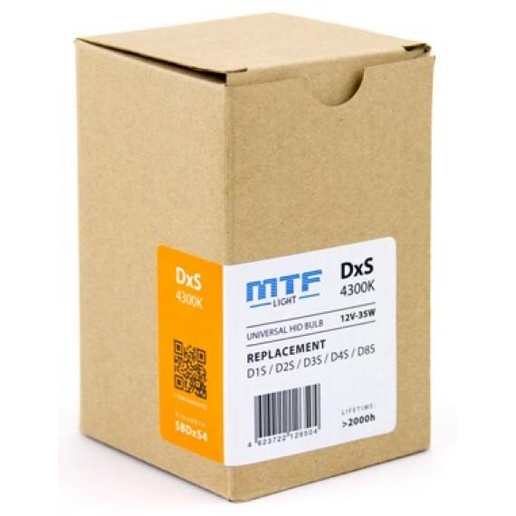 Ксеноновые лампы MTF-Light DxS (D1S/D2S/D3S/D4S/D8S) 4300K