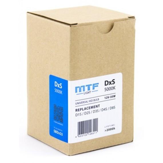 Ксеноновые лампы MTF-Light DxS (D1S/D2S/D3S/D4S/D8S) 5000K