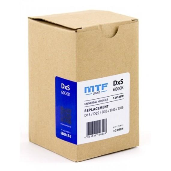Ксеноновые лампы MTF-Light DxS (D1S/D2S/D3S/D4S/D8S) 6000K