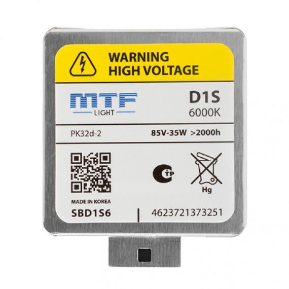 Штатная ксеноновая лампа MTF Tunning D1S 6000K SBD1S6