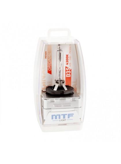 Штатная ксеноновая лампа MTF Original D3S 4300K SBD3S4
