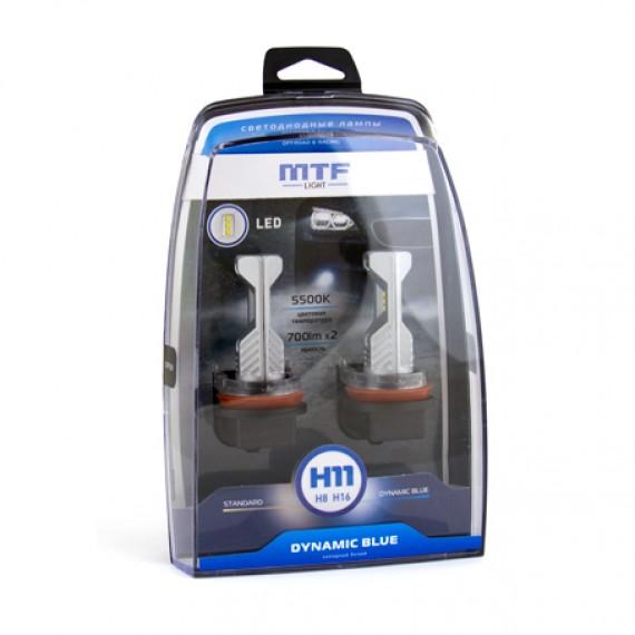 Светодиодные лампы MTF-Light Dynami Blue H11 5500K