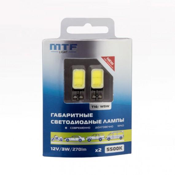 Габаритные светодиодные лампы MTF W5W COB 5500K COB55T10