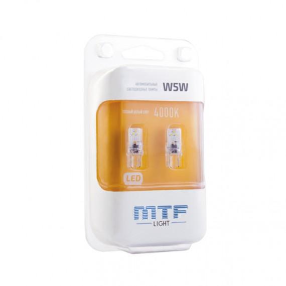Габаритные светодиодные лампы MTF VEGA 4000K W5W40GA