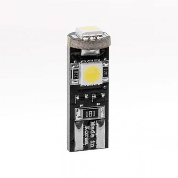 Габаритные светодиодные лампы с обманкой MTF W5W CAN-BUS 5000K W5W50CAN