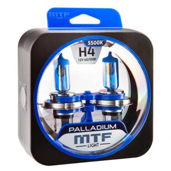 Лампы галогенные MTF-Light Palladium H4 5500K HP3485