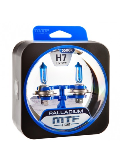 Лампы галогенные MTF-Light Palladium H7 5500K HP3508