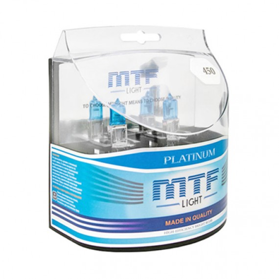 Лампы галогенные MTF-Light Platinum H3 3800K HP3027