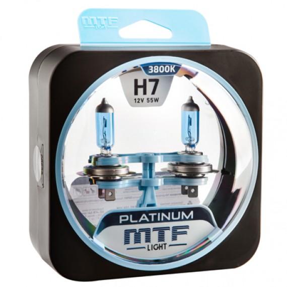 Лампы галогенные MTF-Light Platinum H7 3800K HP3065