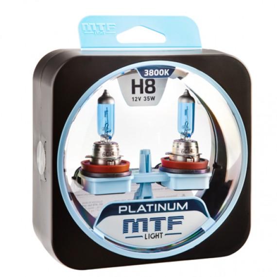 Лампы галогенные MTF-Light Platinum H8 3800K HP3089