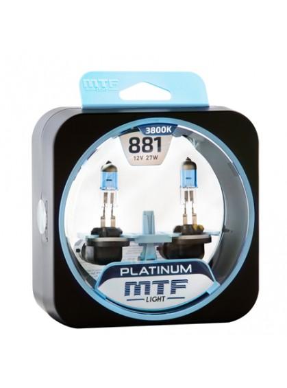 Лампы галогенные MTF-Light Platinum H27 (881) 3800K HP3140