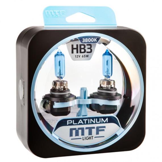 Лампы галогенные MTF-Light Platinum HB3 3800K HP3102