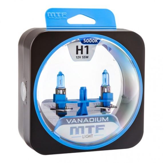Лампы галогенные MTF-Light Vanadium H1 5000K HV3690
