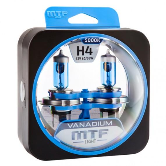 Лампы галогенные MTF-Light Vanadium H4 5000K HV3737