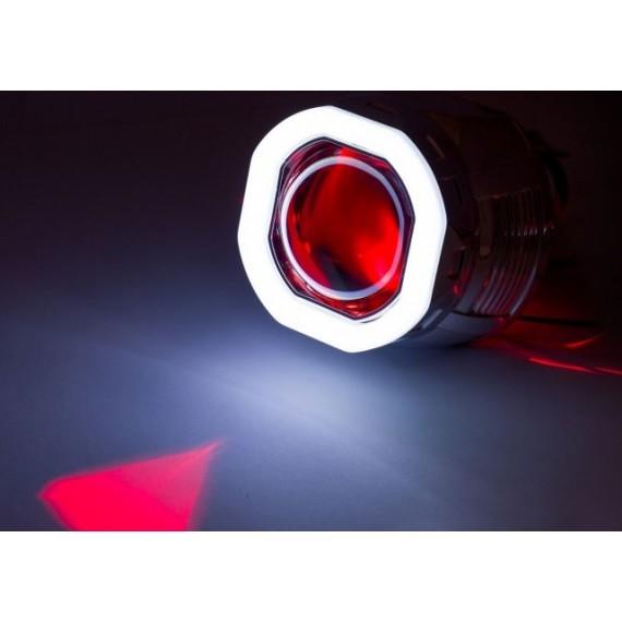"Светодиодная подсветка линз ""Devil Eye"" для линз с цоколем D2S Red 1W (красная)"