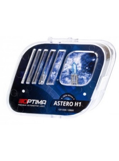 Галогенные лампы OPTIMA Astero H1 5000K +80%