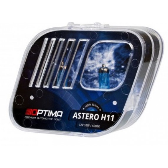 Галогенные лампы Optima Astero H11 5000K +80%