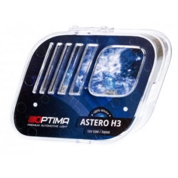 Галогенные лампы Optima Astero H3 5000K +80%