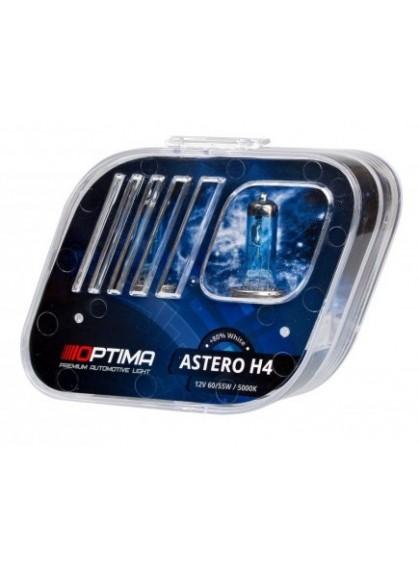 Галогенные лампы OPTIMA Astero H4 5000K +80%