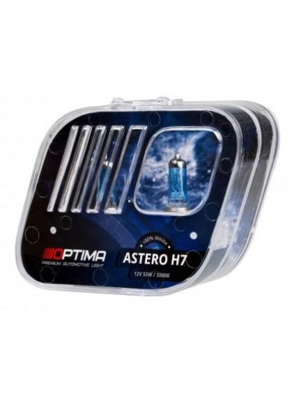 Галогенные лампы OPTIMA Astero H7 5000K +80%