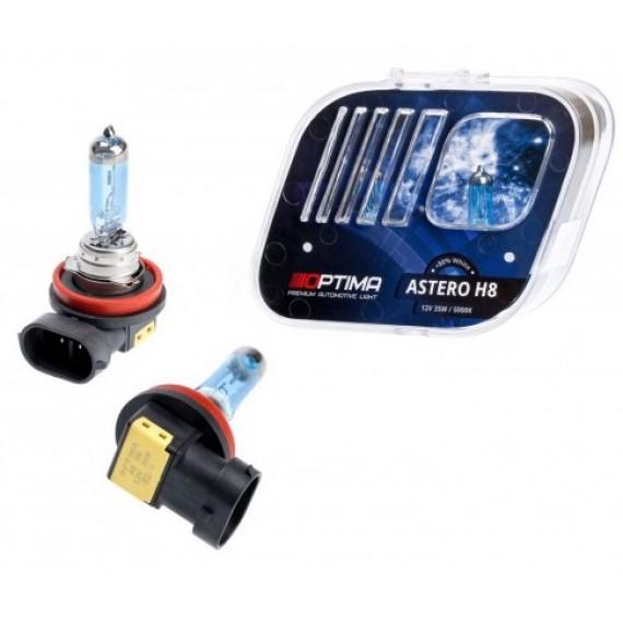 Галогенные лампы Optima Astero H8 5000K +80%