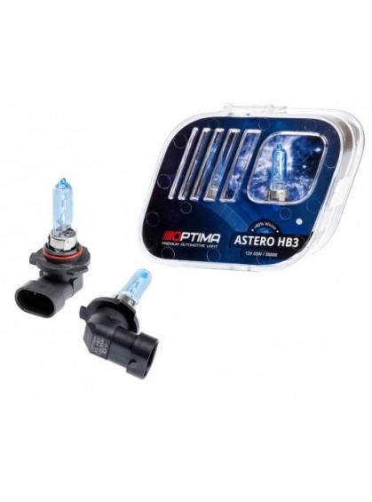 Галогенные лампы OPTIMA Astero HB3 5000K +80%