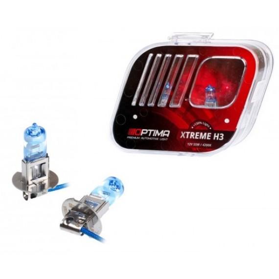 Галогенные лампы Optima Xtreme H3 4200K +130%