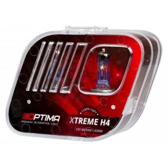 Галогенные лампы Optima Xtreme H4 4200K +130%
