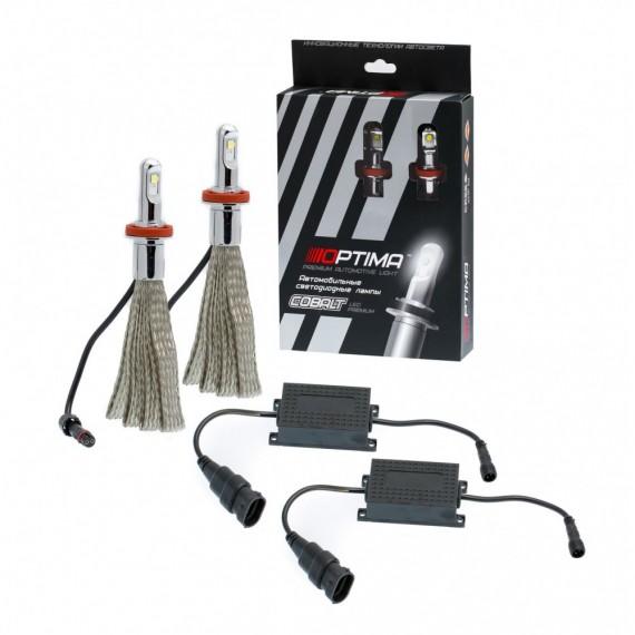Светодиодные лампы Optima LED Premium Cobalt H11/H8/H9/H16 9-36V CB-H11-XHP50