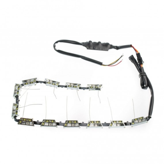 Гибкие дневные ходовые огни ( ДХО, DRL ) Optima Premium K4 Trapeze 12-24V DRL-K4