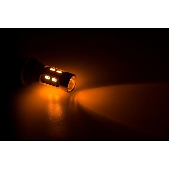Дневные ходовые огни ( ДХО, DRL ) Optima Premium PY21W (1156/BaU15S) с функцией повторителя поворота