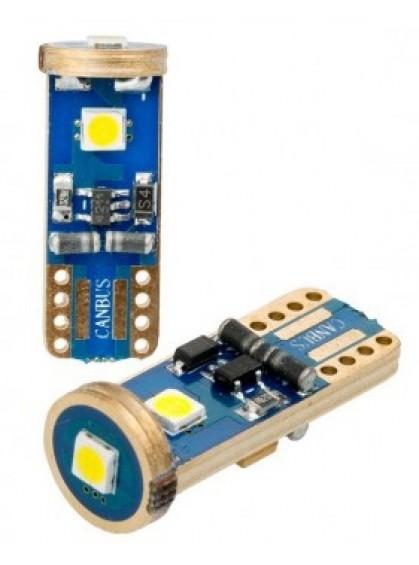 Светодиодная лампа Optima W5W Samsung Chip 12-24V 5100К OP-W5W-SM3 1 шт.