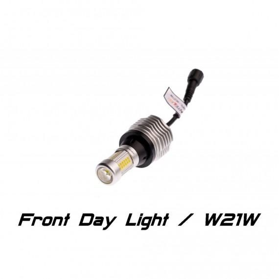 Дневные ходовые огни ( ДХО, DRL ) Optima INTELLED FDL Front Day Light W21W с  функциями поворотника и притухания FDL-W21W