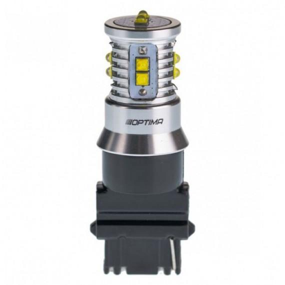Светодиодная лампа Optima MiniCREE P27W (3156) белая 50W с обманкой