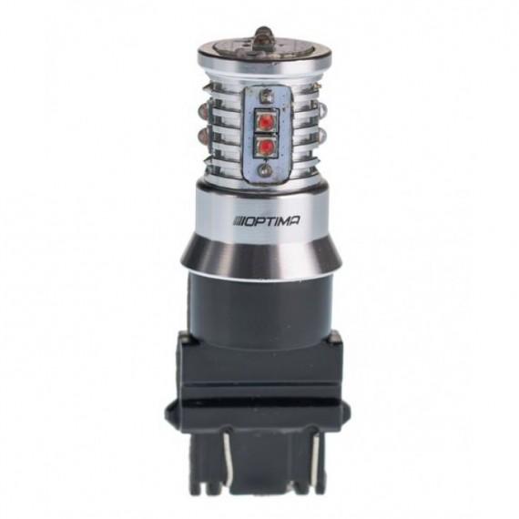 Светодиодная лампа Optima MiniCREE P27/7W (3157) красная 50W с обманкой