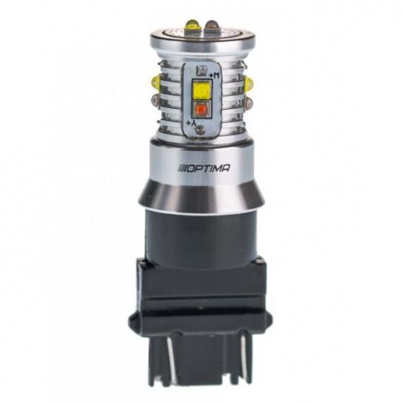 Светодиодная лампа Optima MiniCREE P21/7W (3157) белая/желтая 50W с обманкой
