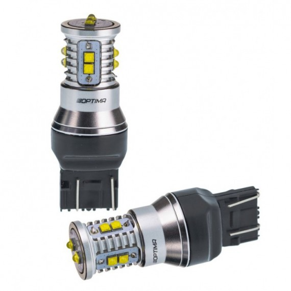 Светодиодная лампа Optima MiniCREE W21/5W (7443) белая 50W с обманкой