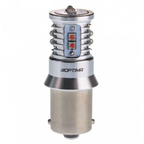 Светодиодная лампа Optima MiniCREE PY21W желтая 50W с обманкой