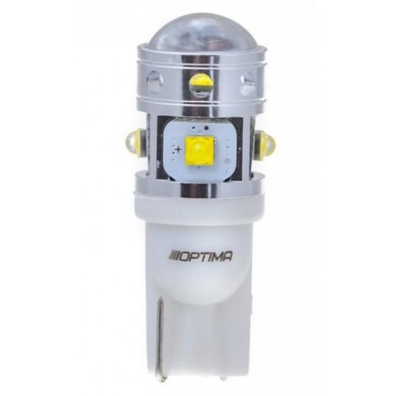 Светодиодная лампа Optima MiniCREE W5W (T10) 5100K 30W с обманкой